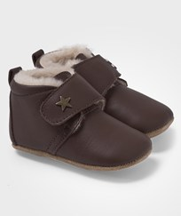 Bisgaard Star Home Shoe With Wool Brown Brun