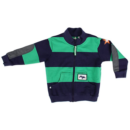 Green Cotton Pablo Skipper Sweat Jacket Blue
