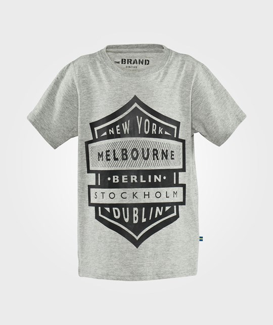 The BRAND City Tee Grey Mel Grey Mel
