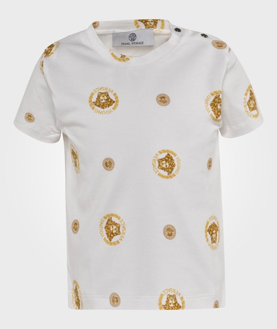 Young Versace T-Shirt White/Gold Hvit
