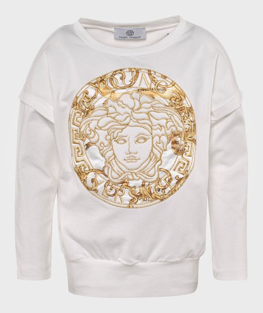 Young Versace T-Shirt White/Gold Hvid