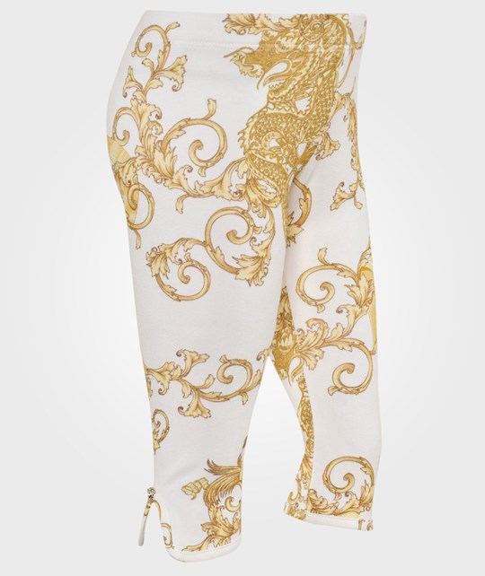 Young Versace Pant White/Gold Vit