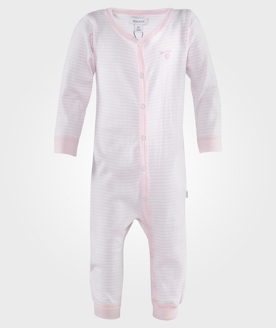 Gant N.B. Striped Coverall Nantucket Pink Lyserød