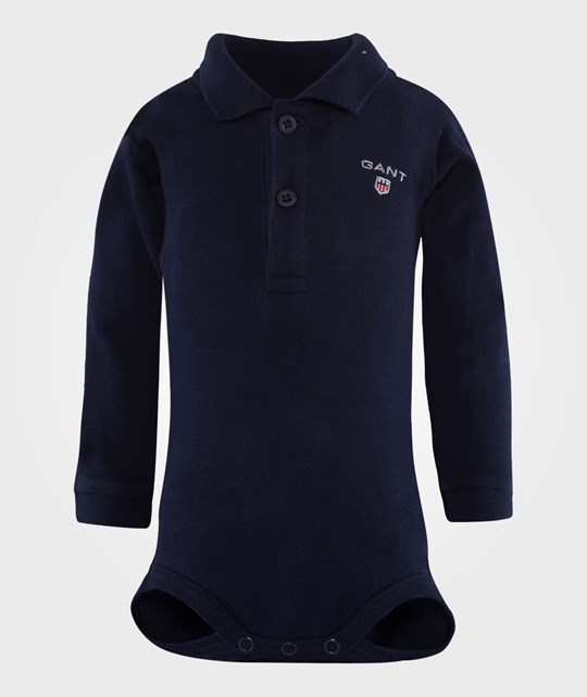 Gant Boy Solid LS Body With Collar Evening Blue Blue