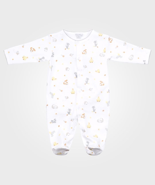Kissy Kissy Woodland Wonder Print Footie White
