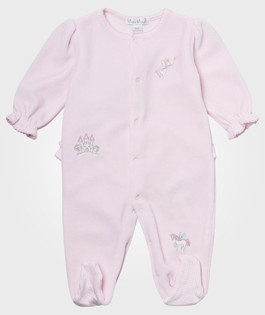 Kissy Kissy Dreamland Velour Footie Pink