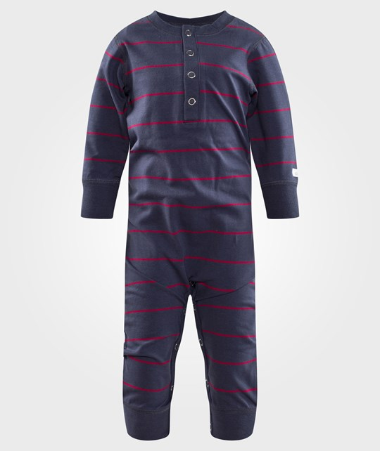 ebbe Kids Randy Bodysuit Washed Navy/Raspberry Stripe Washed Navy/Raspberry stripe