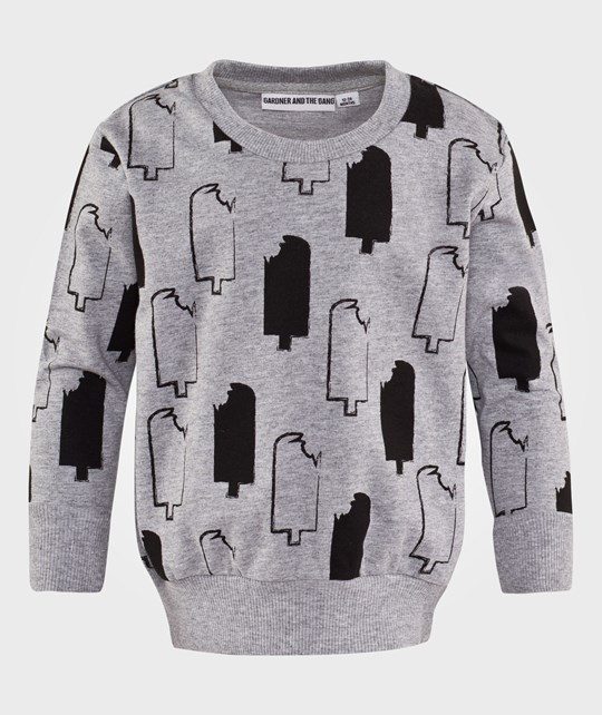 Gardner and the gang Light Sweater Ice Lollies Grey