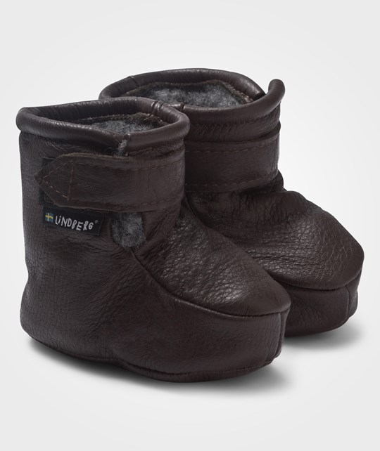 Lindberg Baby Boots Wool Dark Brown Brun