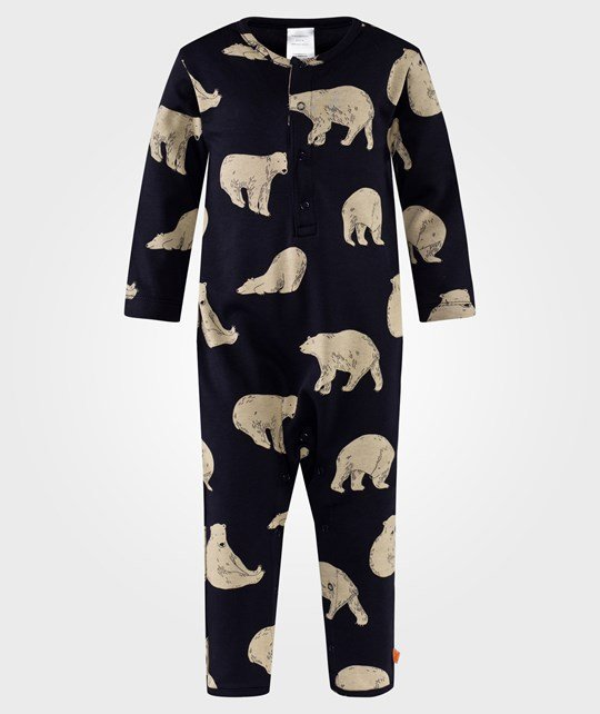 Tinycottons Bears OnePiece Navy Blå