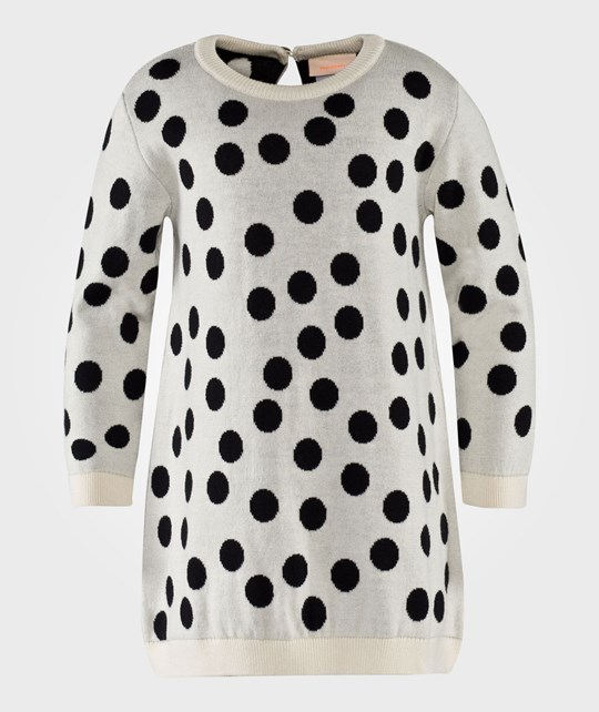 Tinycottons Big Dots Dress Knit Creme/Black White