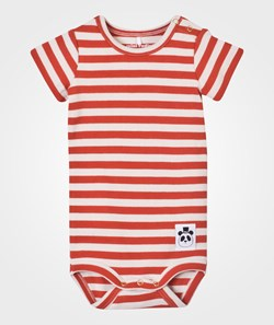 Mini Rodini Stripe Rib SS Body Red