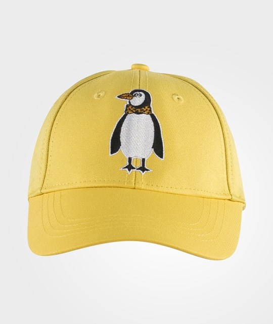 Mini Rodini Penguin Emb Cap Yellow Yellow