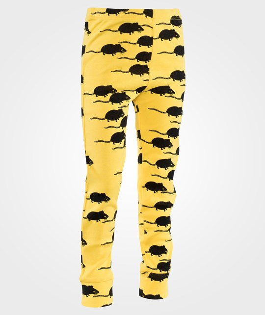 Mini Rodini Mouse AOP Leggings Yellow Yellow