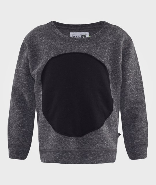 NUNUNU Circle Patch Pullover Charcoal Grey
