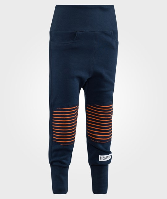 Geggamoja Trouser Marine/Orange Blue