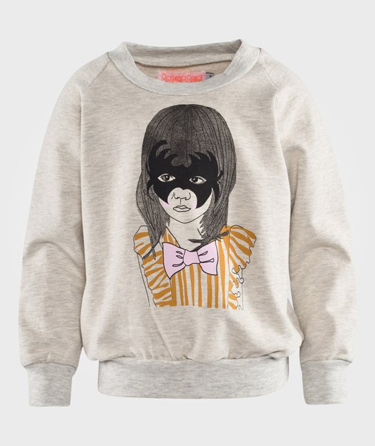 Wauw Capow Supergirl Sweatshirt Light Grey Melange Grey