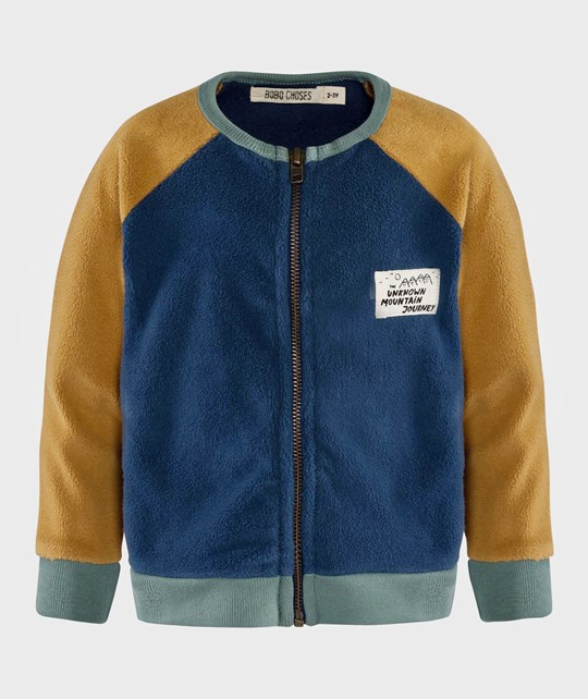 Bobo Choses Sweatshirt zip Sherpa Blue Blue