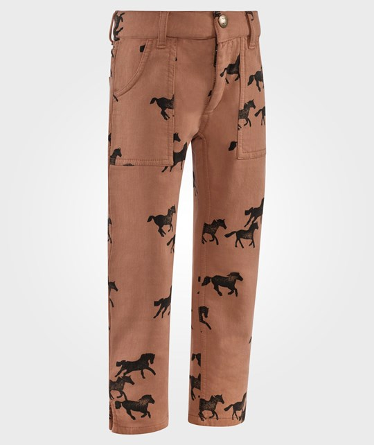 Bobo Choses Jogging Trousers  Horses AO Brown