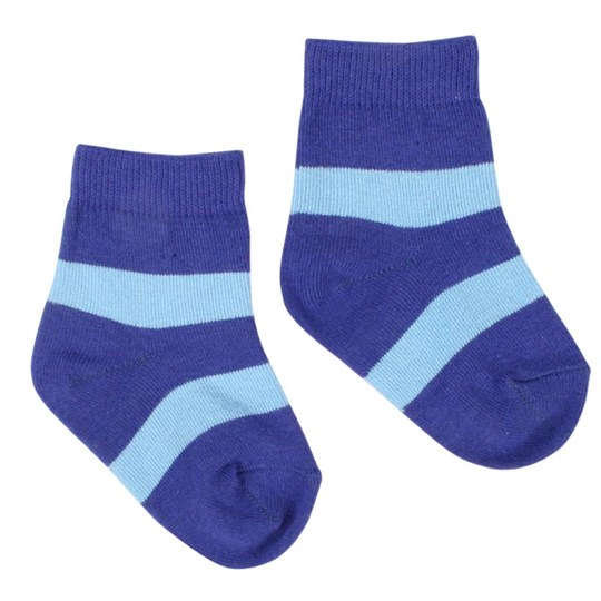 Katvig Ankle Socks Baby Sky Blue/Dark Blue