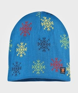Isbjörn Of Sweden Snowflake Knitted Cap Superheroblue