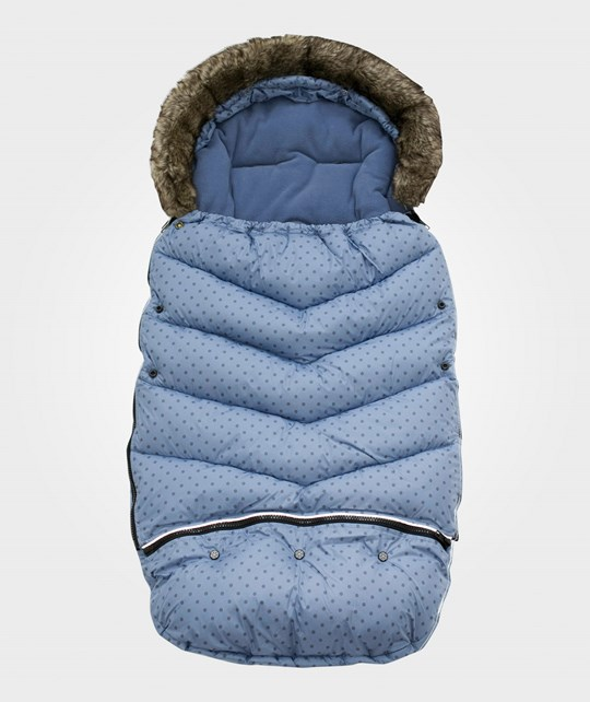Vinter & Bloom Footmuff Mini Dots French Blue Sininen