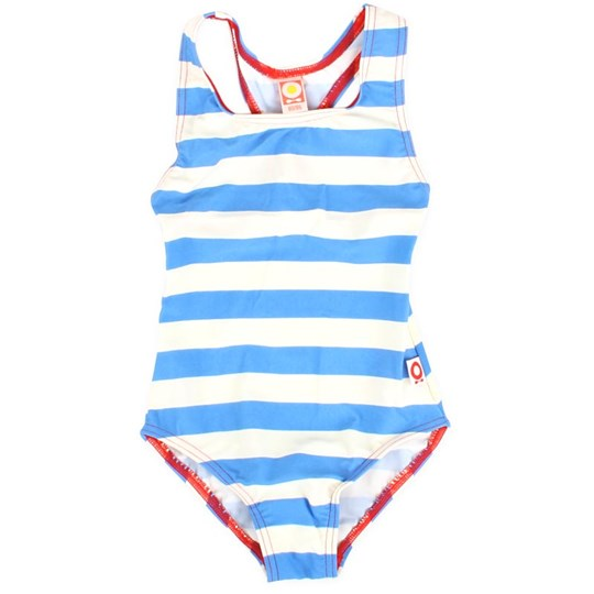 Katvig Girls Swimsuit Blue/White Multi