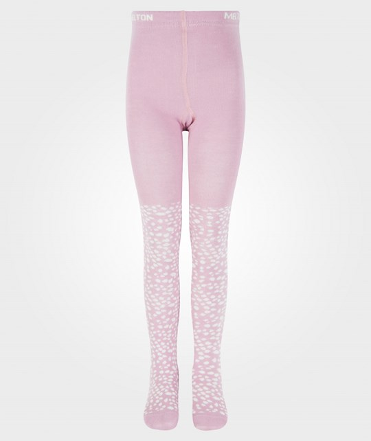 Melton Tights, Mini Flakes Wild Rose Rosa
