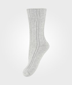 Melton Bedsock Wool+Angora Bubbleedge Light Grey Melange