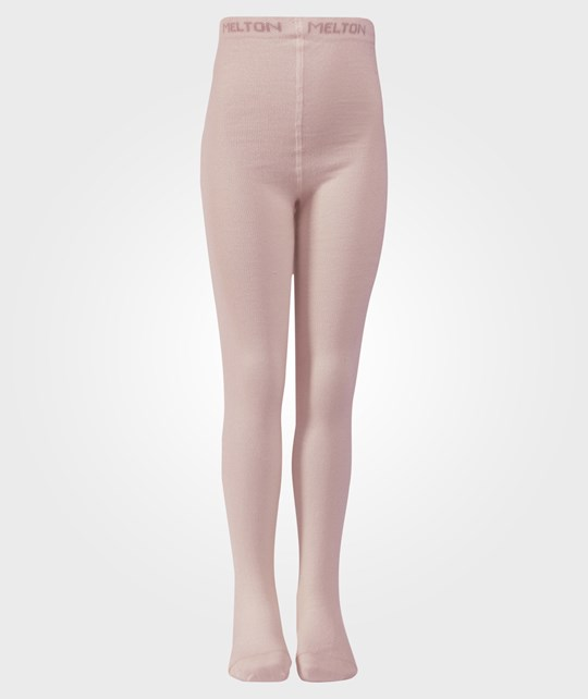 Melton Classic Basic Tights Wo/Co Dusty Rose Pink