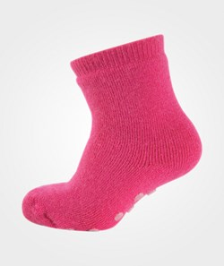 Melton Wool Sock, Full Terry & Abs Pink