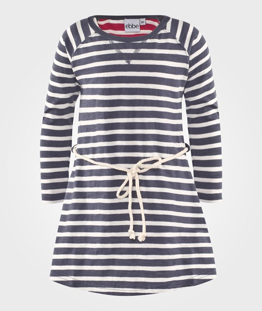 ebbe Kids Fanny Dress Washed Navy/Offwhite Stripe Washed navy/Offwhite stripe