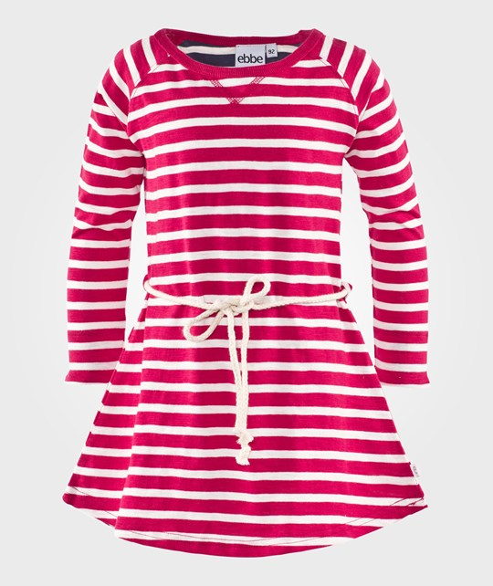 ebbe Kids Fanny Dress Raspberry/Off White Stripes Raspberry/Offwhite stripe