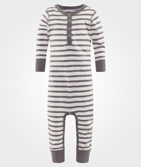 ebbe Kids Fanta Bodysuit Offwhite/Grey Stripe Offwhite/Grey stripe