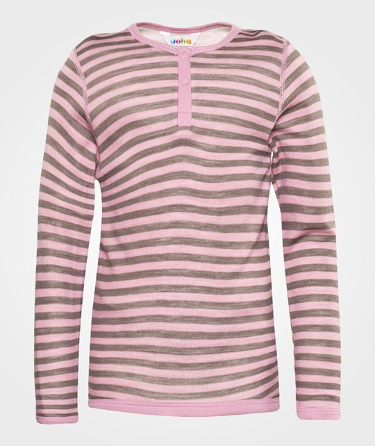 Joha Blouse W. Long Sleeves Stripe Pink
