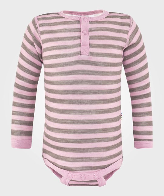 Joha Body W. Long Sleeves Stripe Lyserød
