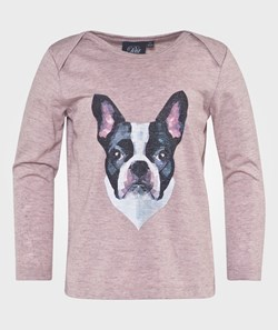 Petit by Sofie Schnoor T-Shirt Long Sleeve W Dog Pink
