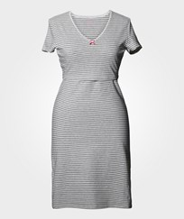 Boob N Nightdress Stripe Offwhite/Grey Grey