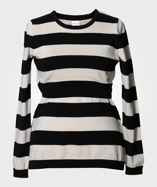 Boob Knitted Jumper Stripe Black/Offwhit черный