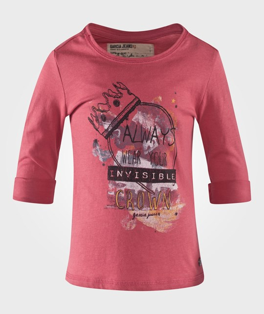 Garcia Girls T-Shirt Long Sleeve Slate Rose Pink