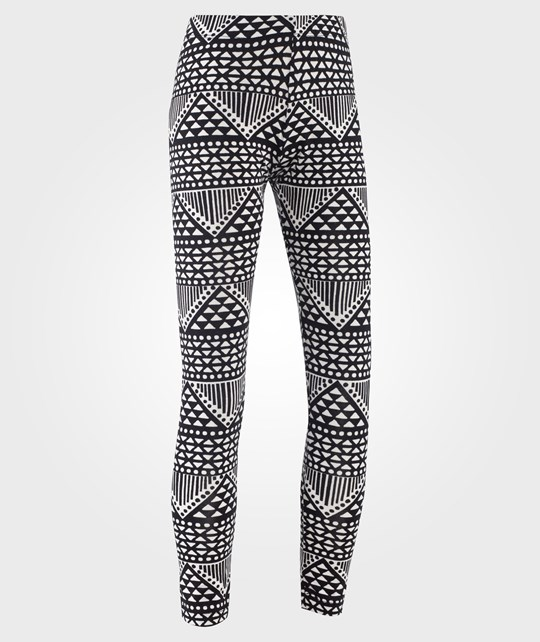 Little Pieces Little Lpburcu Legging 2 Pack A Black White/Black Svart/Vit