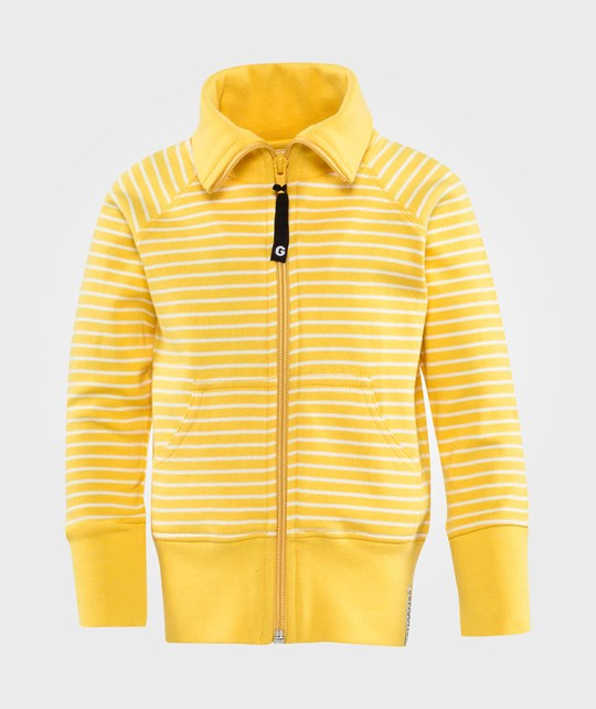 Geggamoja Zip Sweater  Yellow White