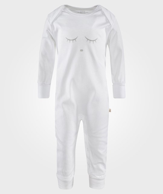 Livly Sleeping Cutie Coverall White/Grey White