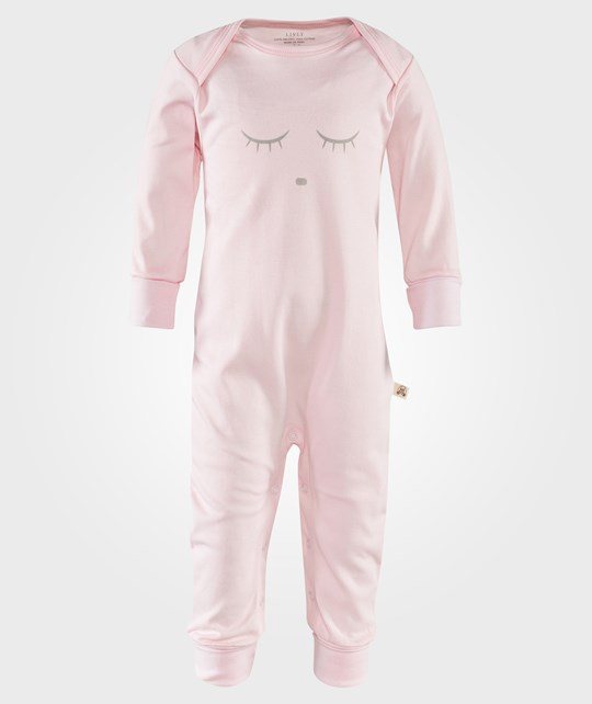 Livly Sleeping Cutie Coverall Pink/Grey Pink
