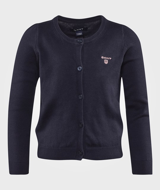 Gant Cotton Cardigan Evening Blue Sand