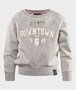 Gant Golden Crewneck Soft Grey Melange