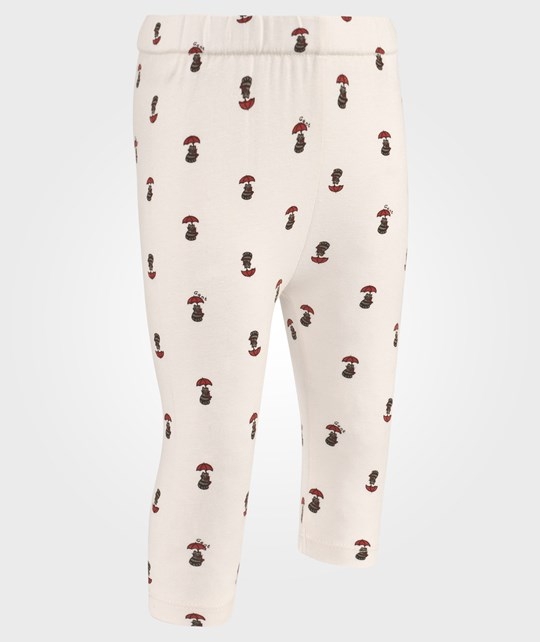 Gant Girl Kitten Print Leggings Cream White