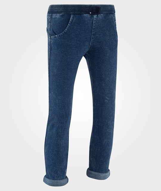 United Colors of Benetton Felpa Denim With Pockets And Sequin Bow Detail Blue Blue