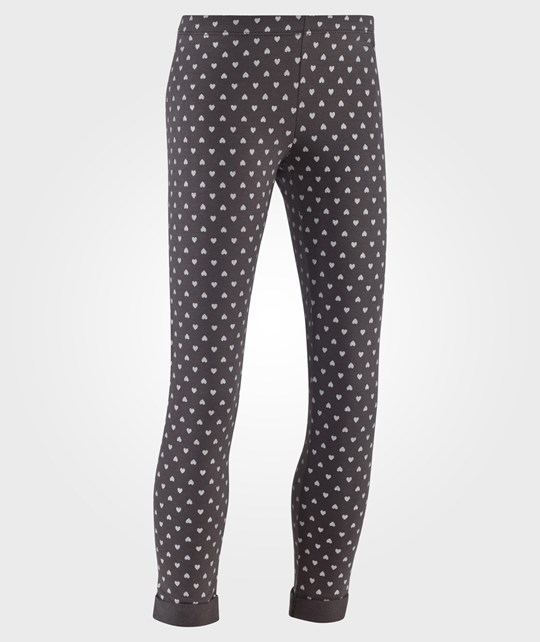 United Colors of Benetton All Over Heart Print Leggings Dark Grey Grå