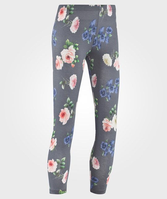 United Colors of Benetton Floral Print Jeggings, With Pocket Imitations Dark Grey Grey